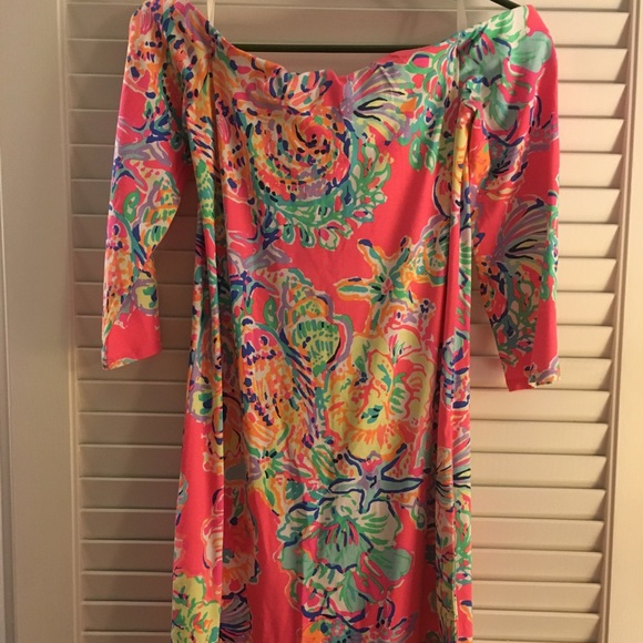 930cb4565ed654 Lilly Pulitzer Dresses & Skirts - Lilly Laurana Off The Shoulder Dress-  Small